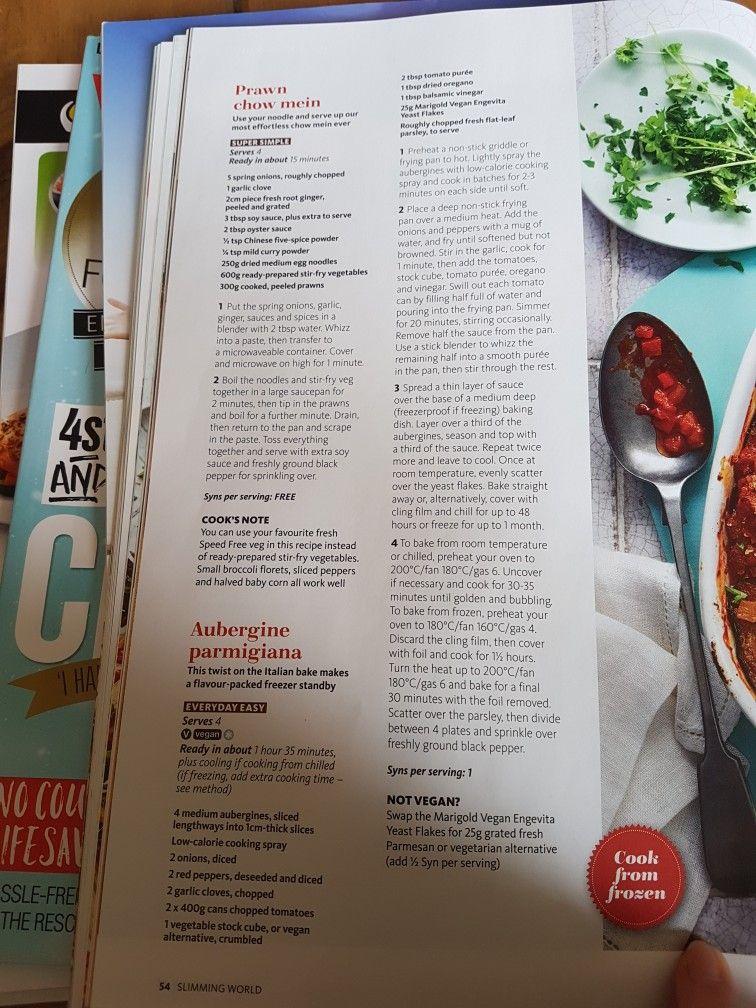 Slimming World Aubergine Parmigiana Fish Recipes Healthy Healthy Fish Chow Mein
