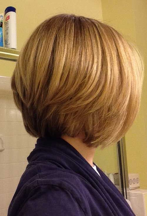 15 Layered Bob Back View Bob Haircut And Hairstyle Ideas Hair Styles Short Hair Styles Long Bob Haircuts