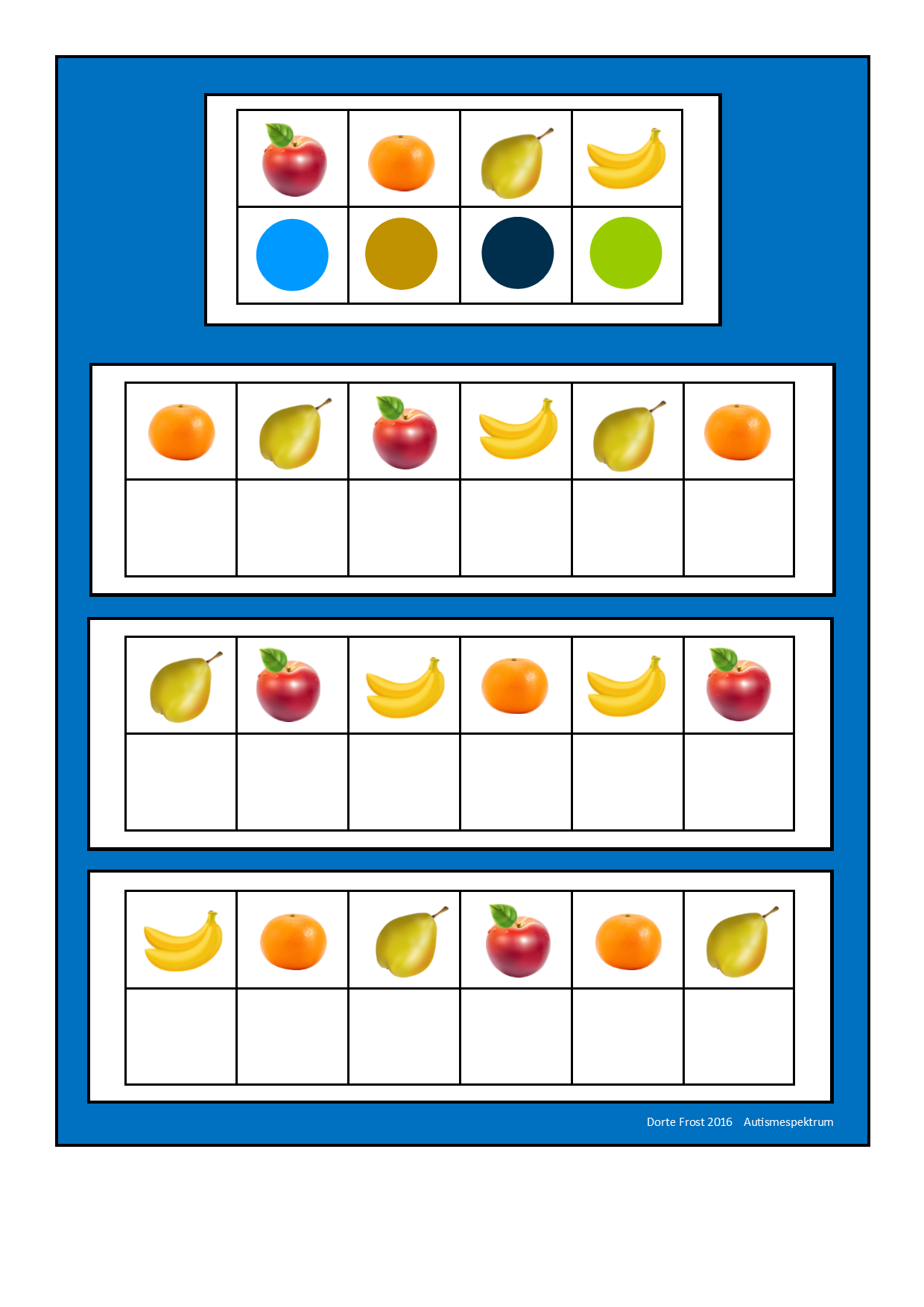 Board2 For The Fruit Visual Perception Game Find The