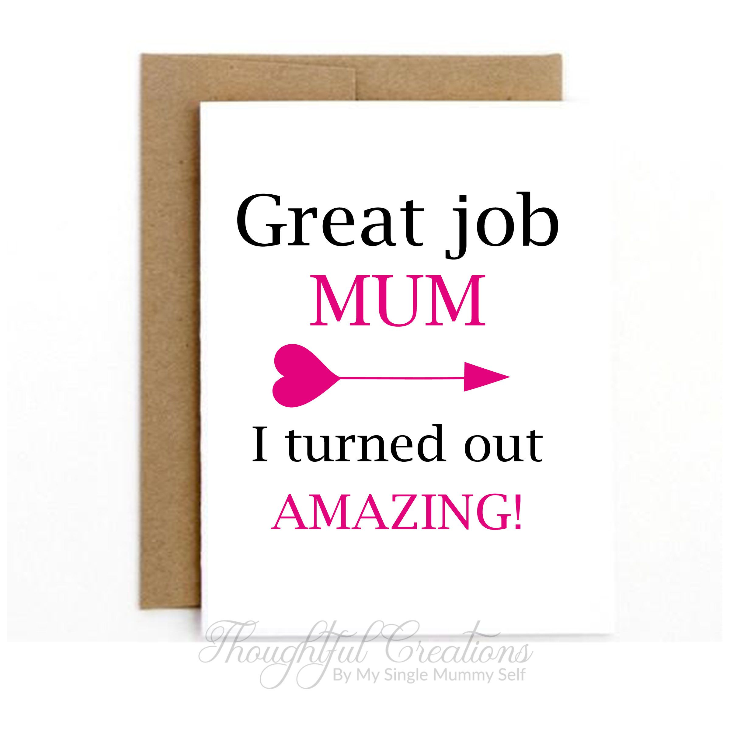 Funny Mothers Day Card Card For Mum Mother S Day Card Happy Mothers Day Mothering Sunday Card Mothering Sunday Mothers Day Card Template Funny Mothers Day