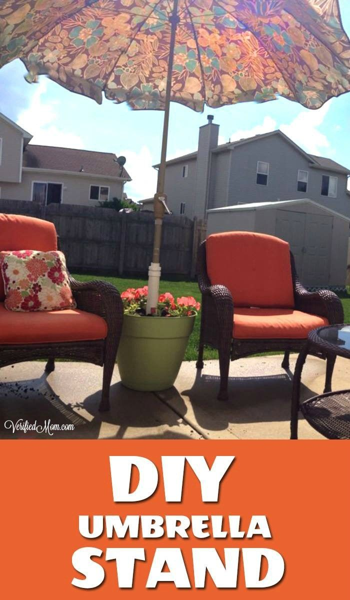 how to create a unique diy umbrella stand create patios and