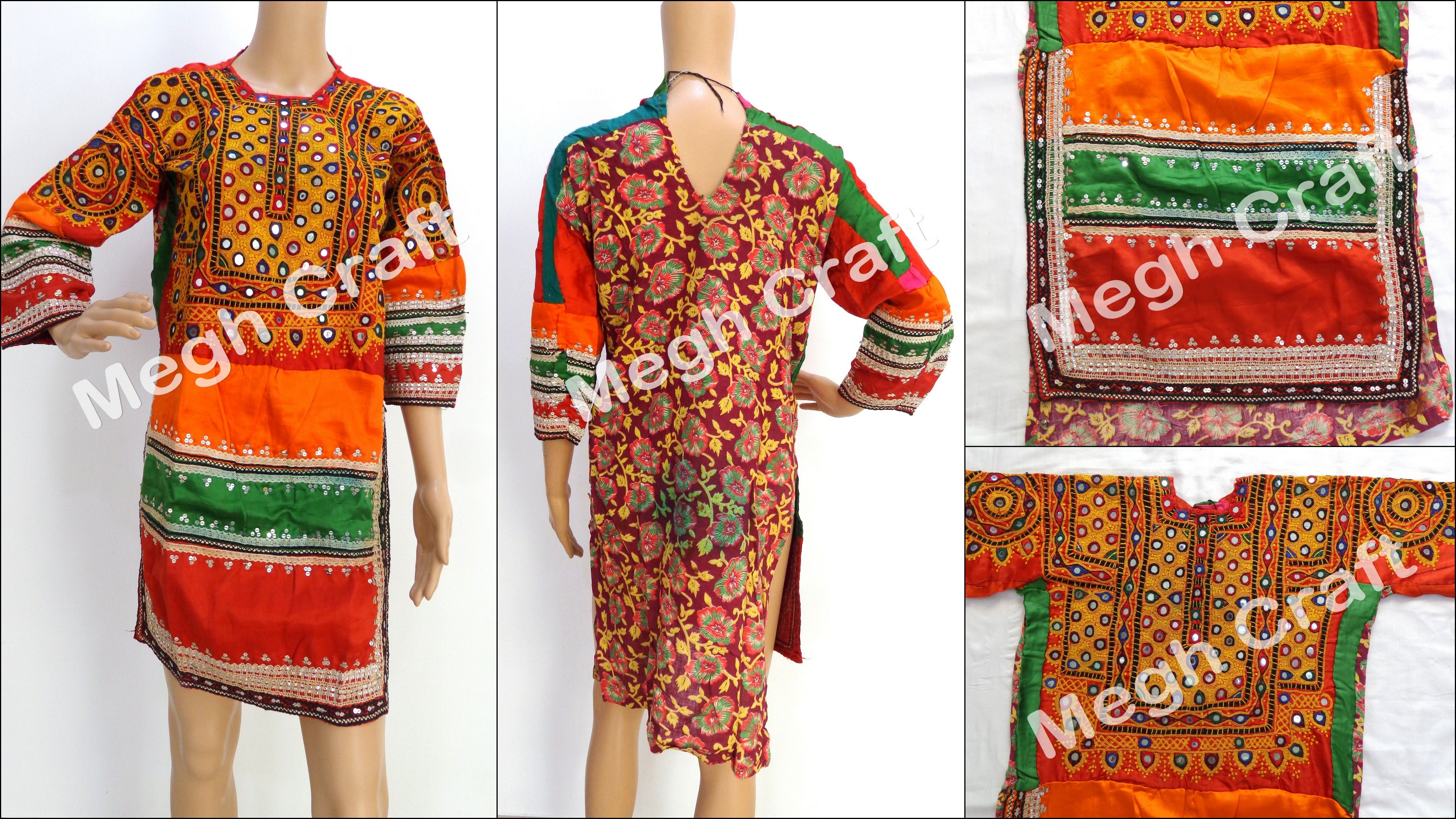 f2303b76189 afghani vintage traditional mirror and embroidery work top - Afghan dress-  balochi dress-kuchi vintage tunic- Vintage kuchi dress -ethnic dress-  bohemian ...