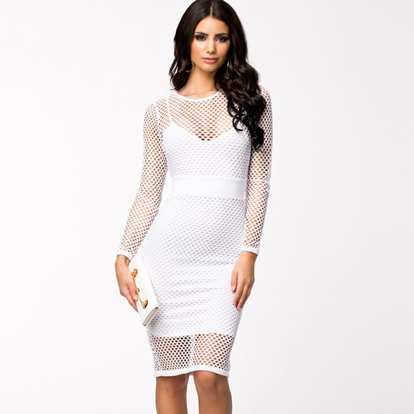 Mesh Fabric & Polyester Sexy One-piece Dress,