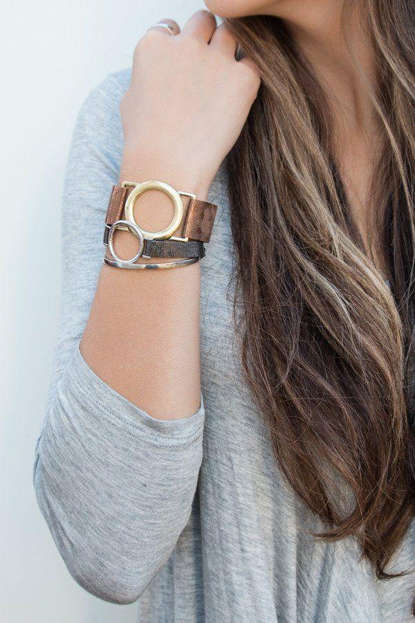 Circle Leather Bracelets