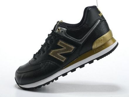 New Balance 574 Year of Dragon word Golden Black Silver men shoes