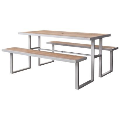 Threshold Bryant Faux Wood Patio Picnic Table Outdoor Patio Furniture Sets Patio Furniture Collection Outdoor Patio Furniture Sets Backyards