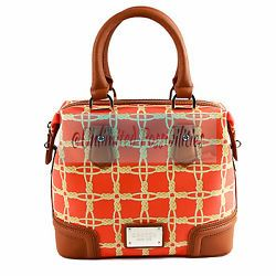 adbecd9bc1a5 OROTON New 1938 Woven Medium Barrel Leather Handbag Shoulder Bag Tigerlily  + Bag