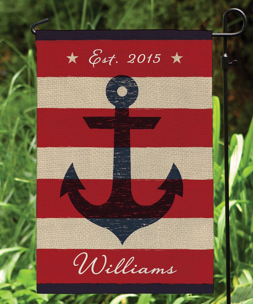 garden flags personalized. Look At This Summer Anchor Personalized Garden Flag On #zulily Today! Flags Y