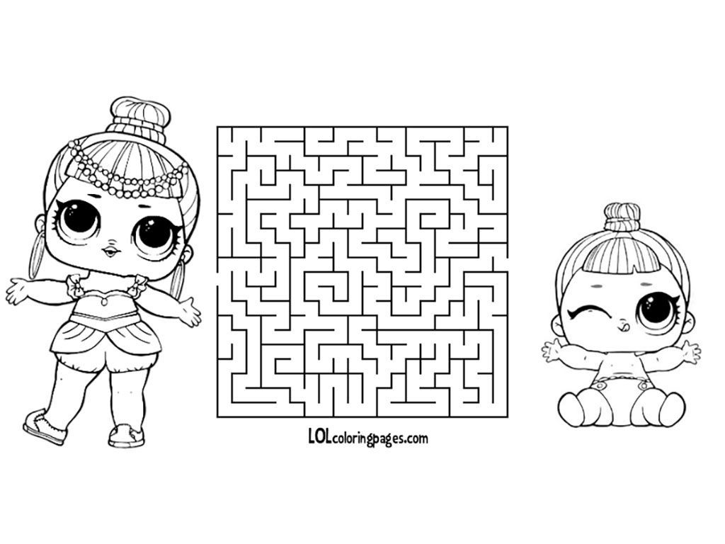 Lol Doll Coloring Pages Little Sisters Lol Dolls Polar Bear Craft Bear Crafts