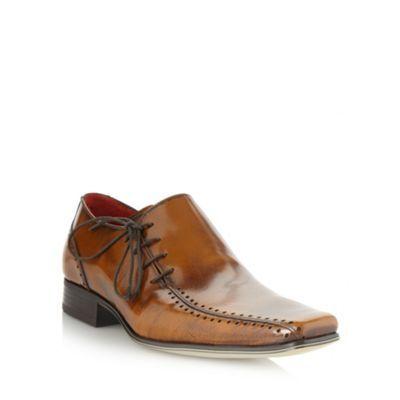 Jeff Banks Designer tan side lace up shoes- at Debenhams.com