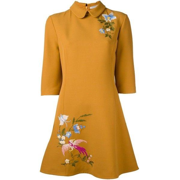 floral embroided loose dress - White Vivetta Shop Offer 9JJJi28kq