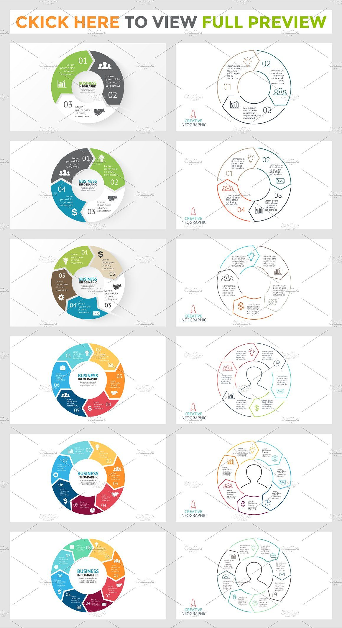 Watercolor Infographic Templates (With images) Circle