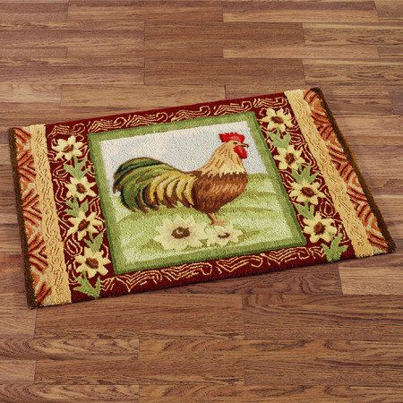 Rooster rug for kitchen. | things i want for my home | Rooster ...