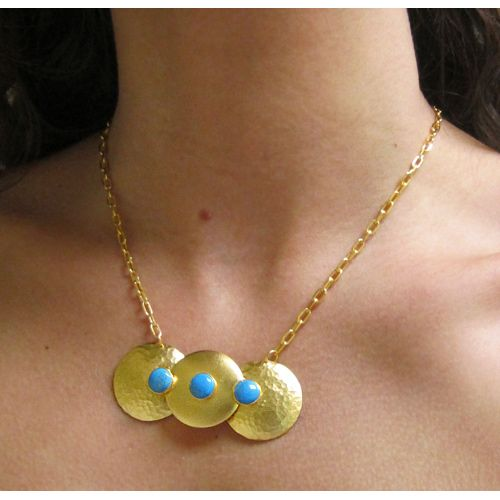 @BitaPourtavoosi Cosmic Necklace in Turquoise from @ShopSadeeSays < such a pretty necklace