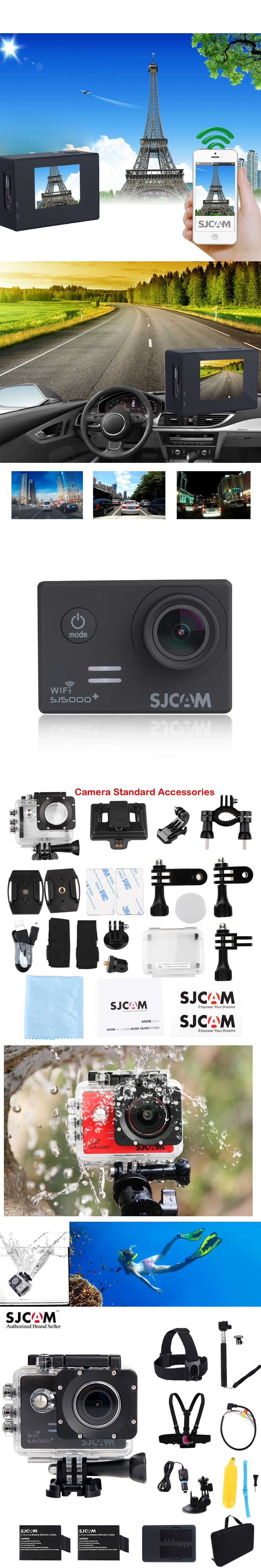 "Original SJCAM SJ5000 Plus WiFi 1 54"" Diving 30M Waterproof Outdoor Sports Action Mini"