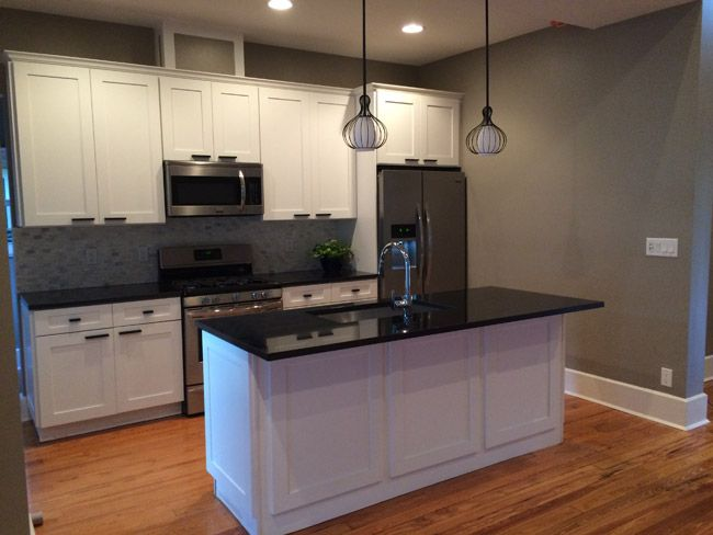Ice White Shaker Cabinets By Kitchen Cabinet Kings Note The Crown Molding  Added To Top Of