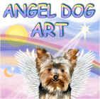 My Angel Dog Art shop on Cafe Press who puts my designs on 100+ of their products.  Find angel dogs (among other designs) on greeting cards, note cards, clothing, mugs, calendars, etc. etc. etc.