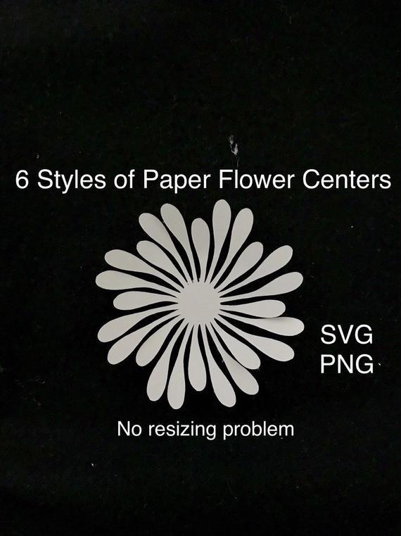 Large Paper Flower Centers, Flower Center Template, Flower Center Svg, Paper Flower Stamen Svg, Flower Stamen Template, Giant Flower Centers