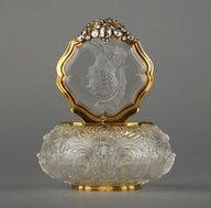 Oro Perfume Bottle, Dresden, Alemania alrededor del año 1745.