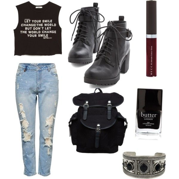 do you want a grunge style ? by titsouillelafripouille on Polyvore featuring polyvore, mode, style, MANGO, Lipsy, Your Turn, Topshop, Becca and Butter London