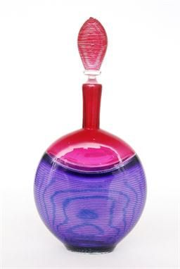 A contemporary studio glass decanter by Bob Crooks