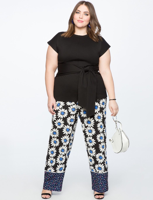 8daf278a9be Eloquii Contrast Print Pajama Pant - Bickering Biddies