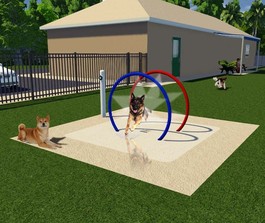 The Mist Hoop Tunnel is easy to install and adds a fun ...