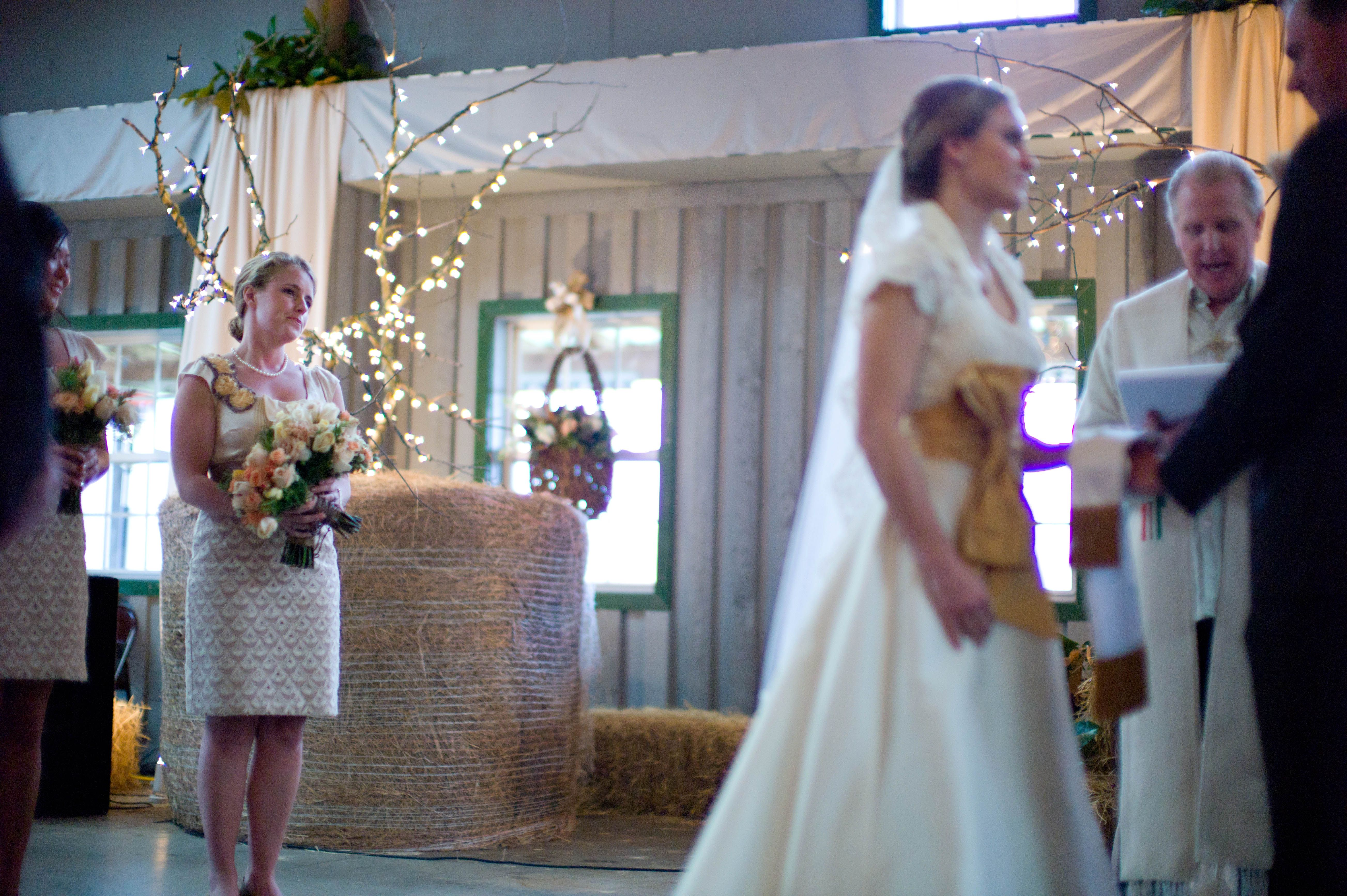 indoor ceremony   Weddings at Greenbrier Farms   Greenbrier