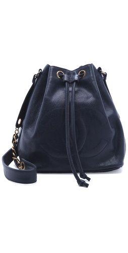 7ffae9cb403 Vintage Chanel drawstring bucket bag   C h a n e L... L o v e R ...