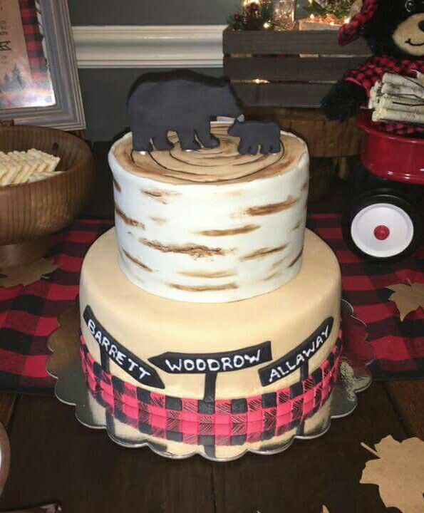 Lumberjack Baby Shower Piece Of Cake Pinterest