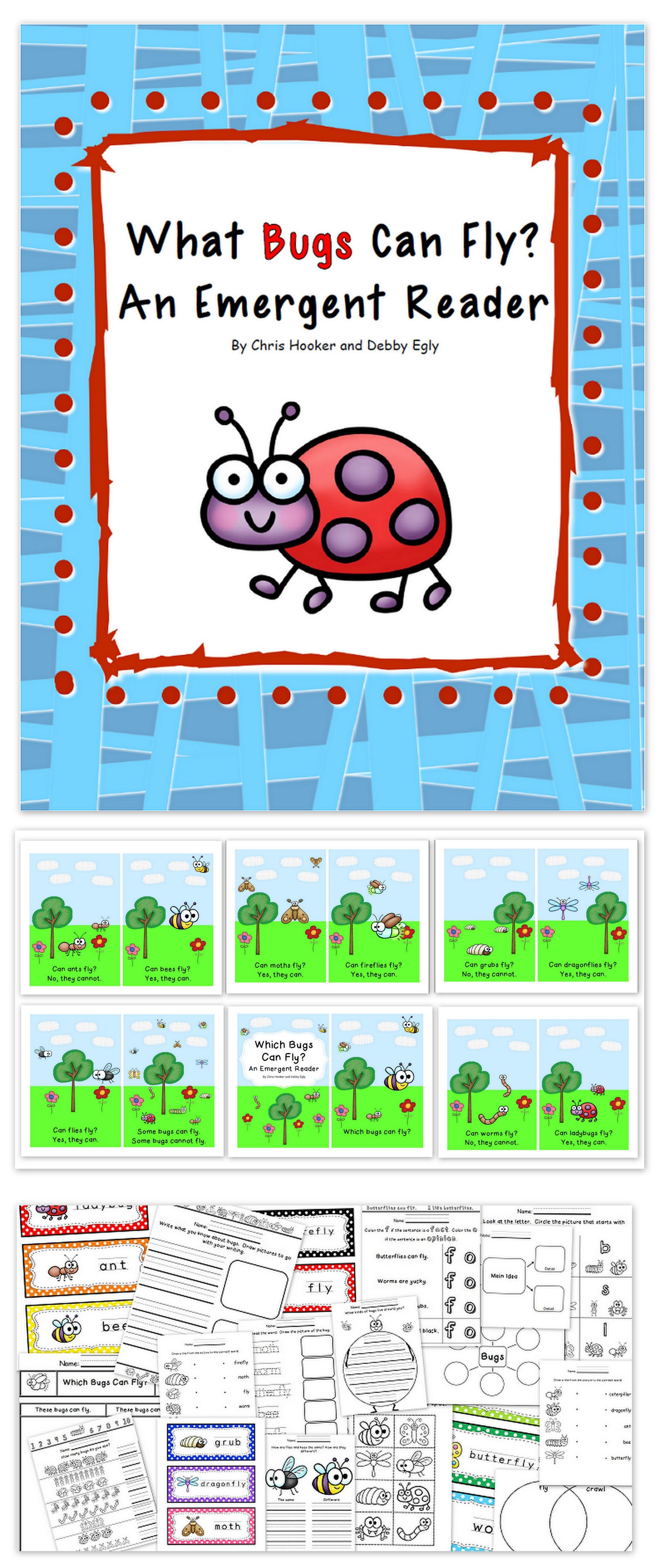 Nonfiction Emergent Reading Pack Bugs