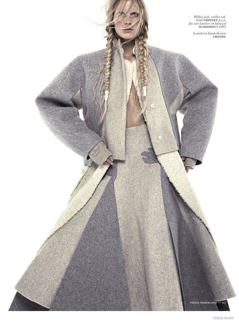 Emily Baker Models Fur Style for Vogue Netherlands by Ishi