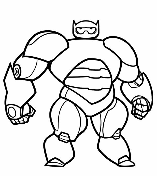 Big Hero 6 Målarbilder för barn. Teckningar online till