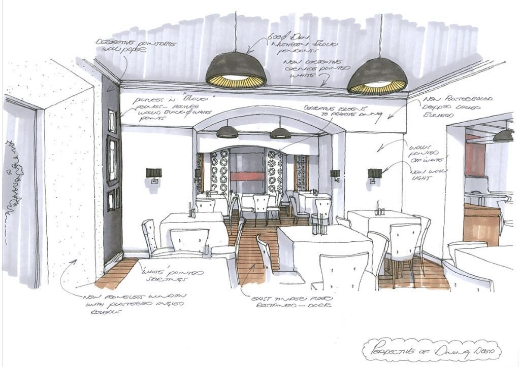 Interior Design Concept Sketches