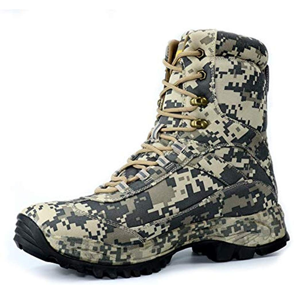 48f61e47b18 Mens camo= hunting= boots= high-top= waterproof= outdoor= tactical ...