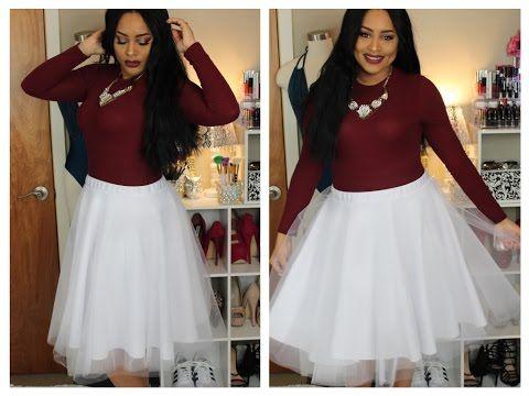 79e235f452 Como Hacer la Falda de TUL más Bonita  ) - YouTube
