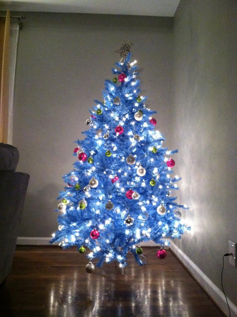 Marvelous This Beautiful Blue Christmas Tree Is Suitable For Any Decorating Theme,  Whether You Want To Create A Winter Wonderland With Silver And White  Ornaments, ...