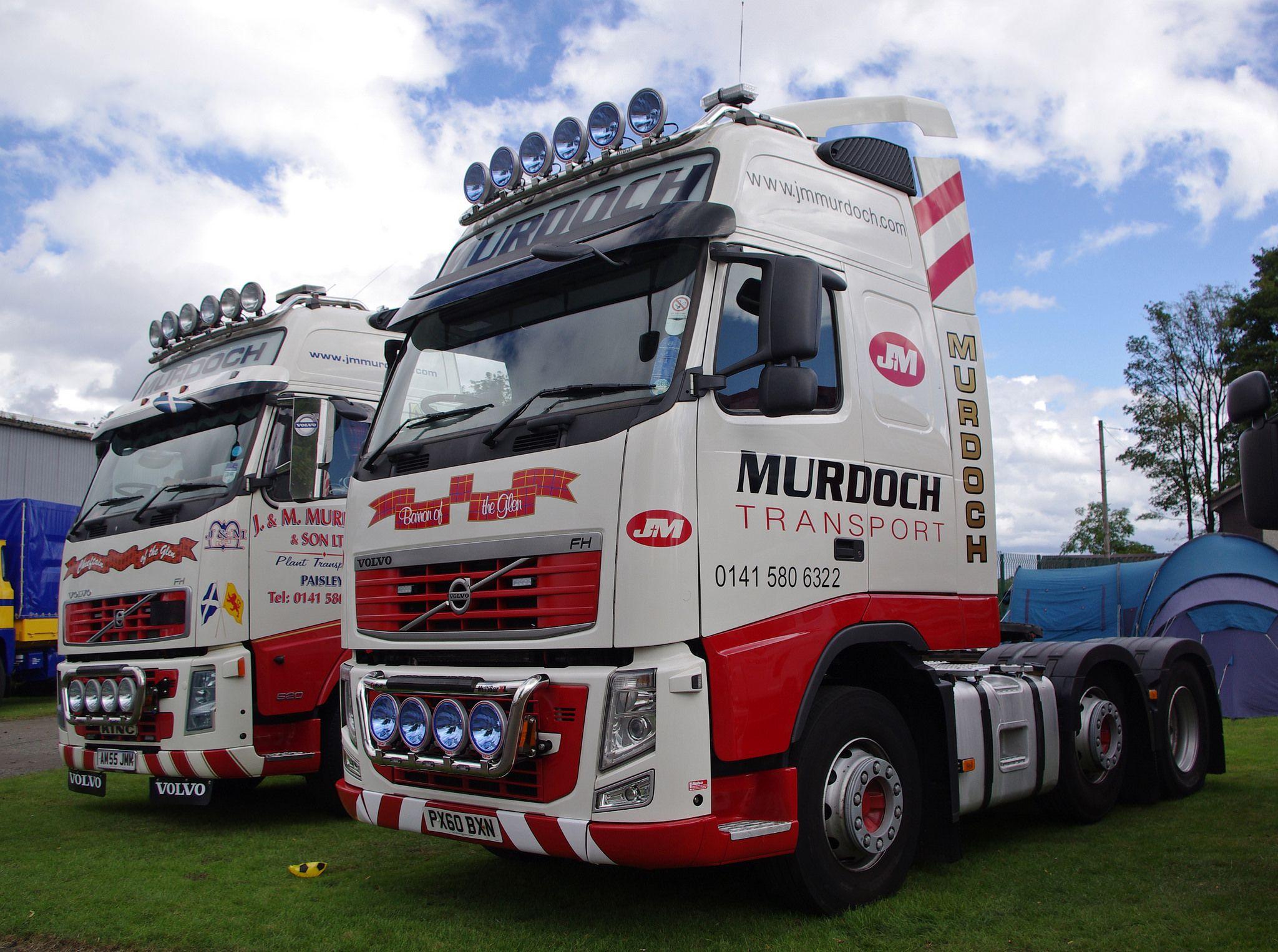 J M Murdoch Of Paisley Volvo Fh Px60bxn Volvo Volvo Trucks Commercial Vehicle
