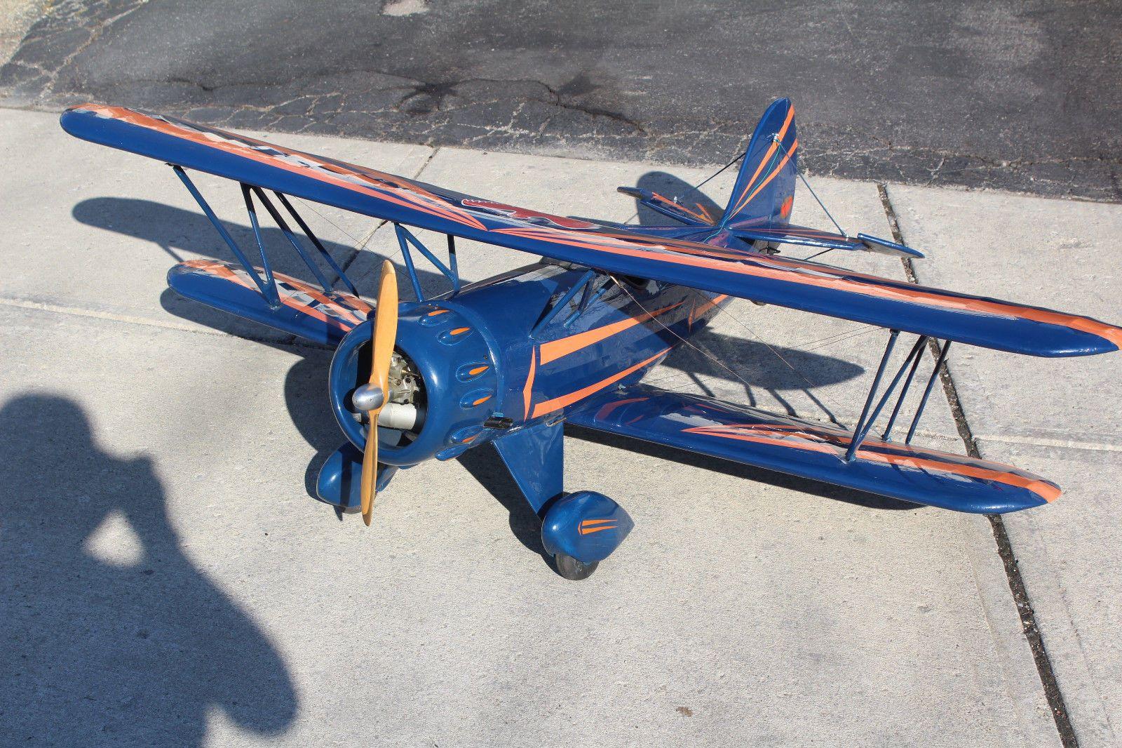 Waco F Series Biplane Gas Powered   eBay   RC Aircraft   Rc