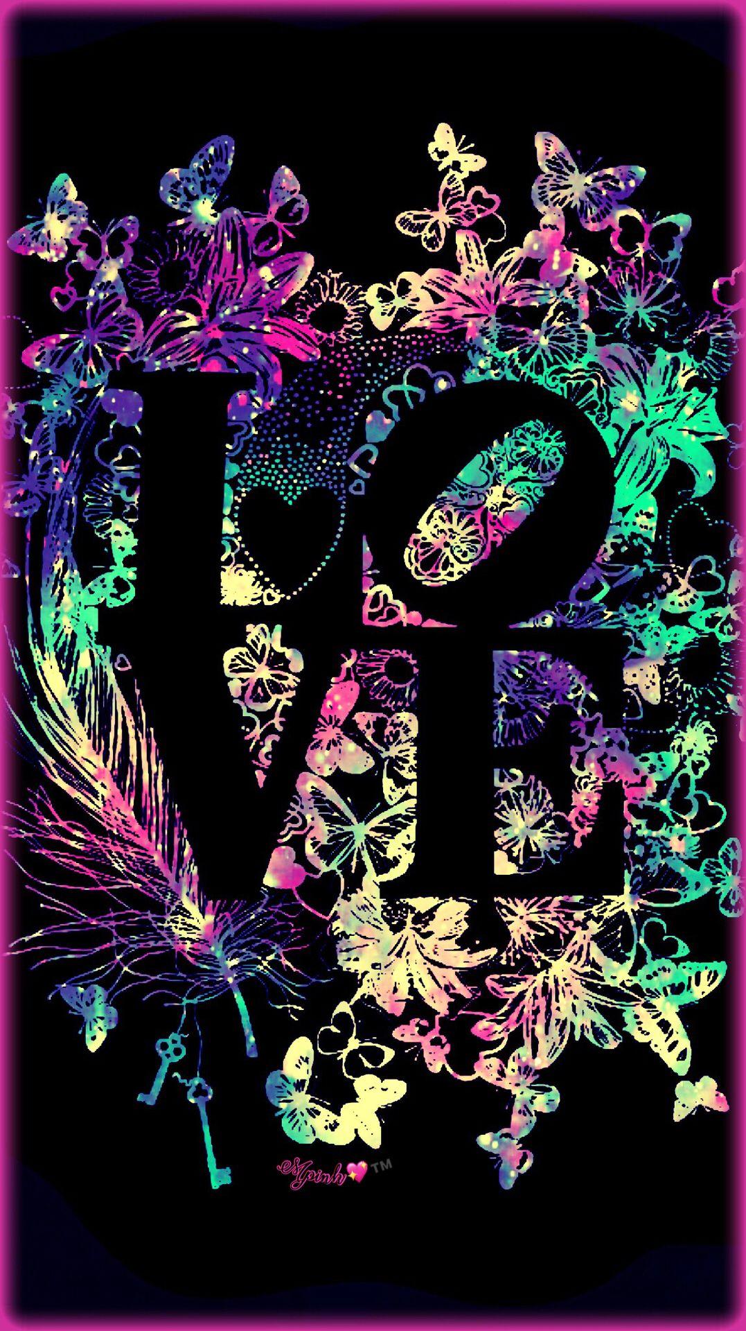 Love Neon Galaxy Wallpaper #androidwallpaper # ...
