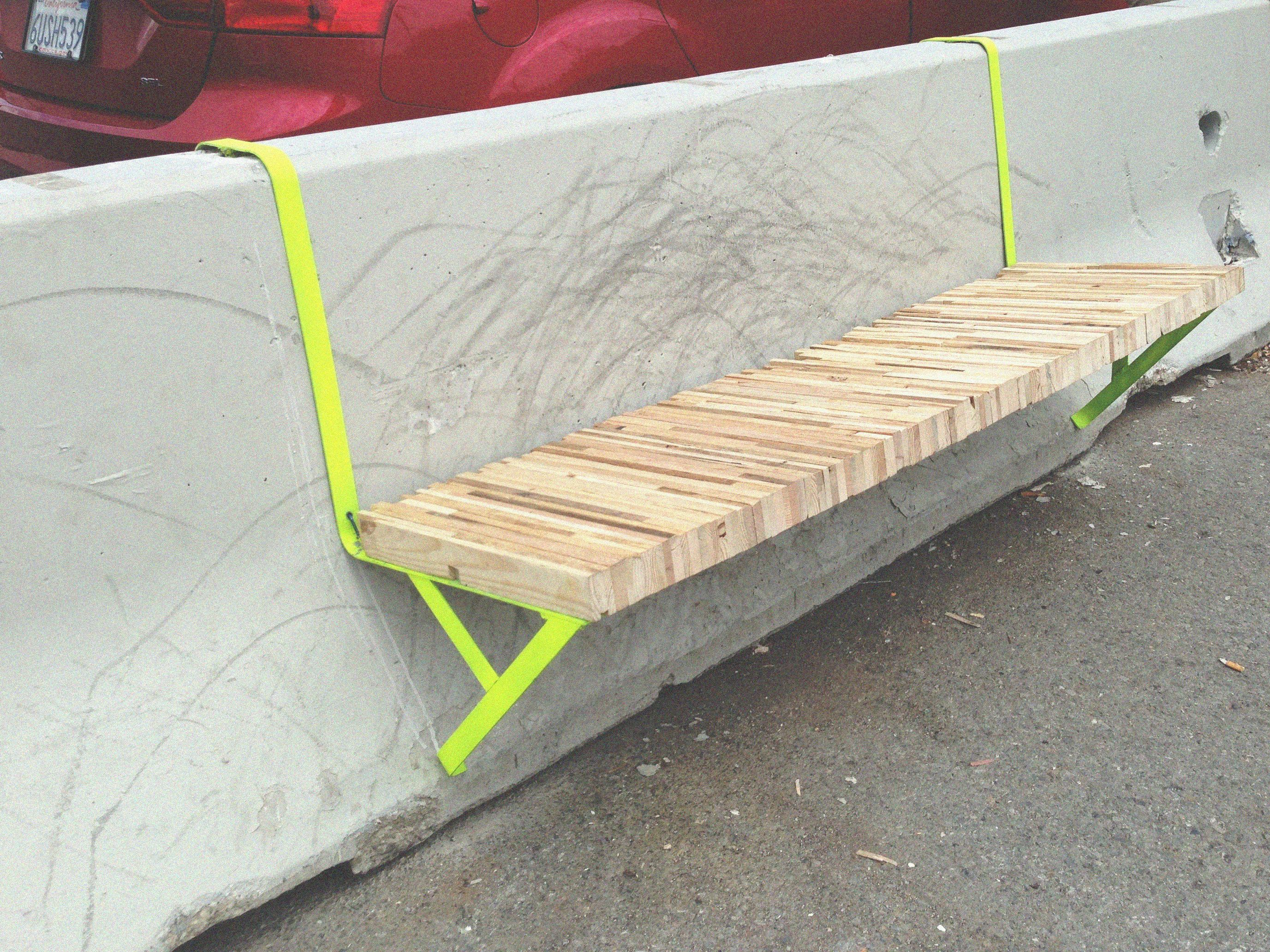 The Jersey Bench Is A Modular Guerrilla Urban Furniture Designed To Break The Common Aesthetics And Usage Of The Generic Concrete Barriers So Calle Blog Disegni