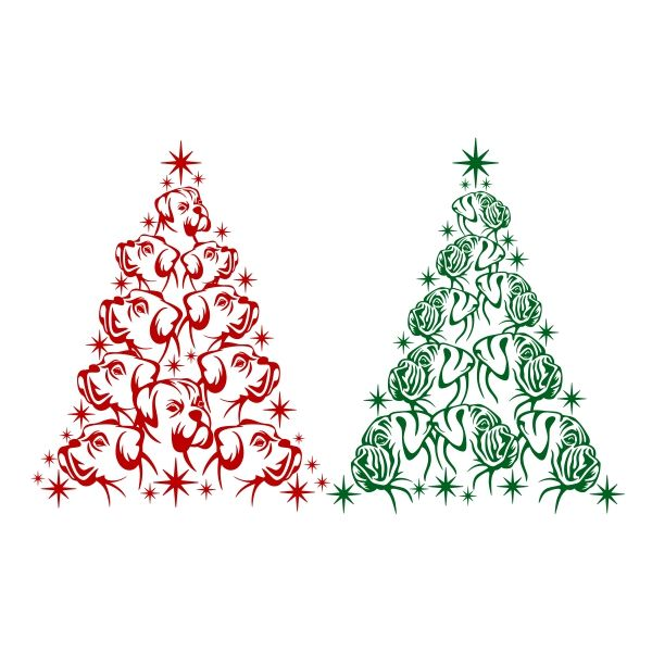 Boxer Christmas Tree Svg Cuttable Design Christmas Tree And Dogs Jewelry Christmas Tree Christmas Tree Dog