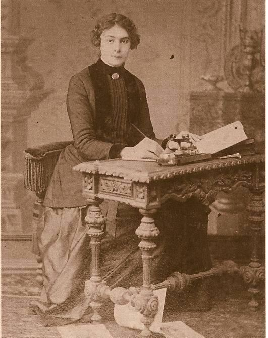 Portrait of Selma Rıza Feraceli (1872 - 1931), the first female journalist in Turkey. Picture dating from the early 20th century.