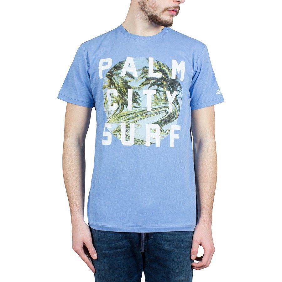 T-Shirt Esprit uomo celeste 036EE2K026-E445