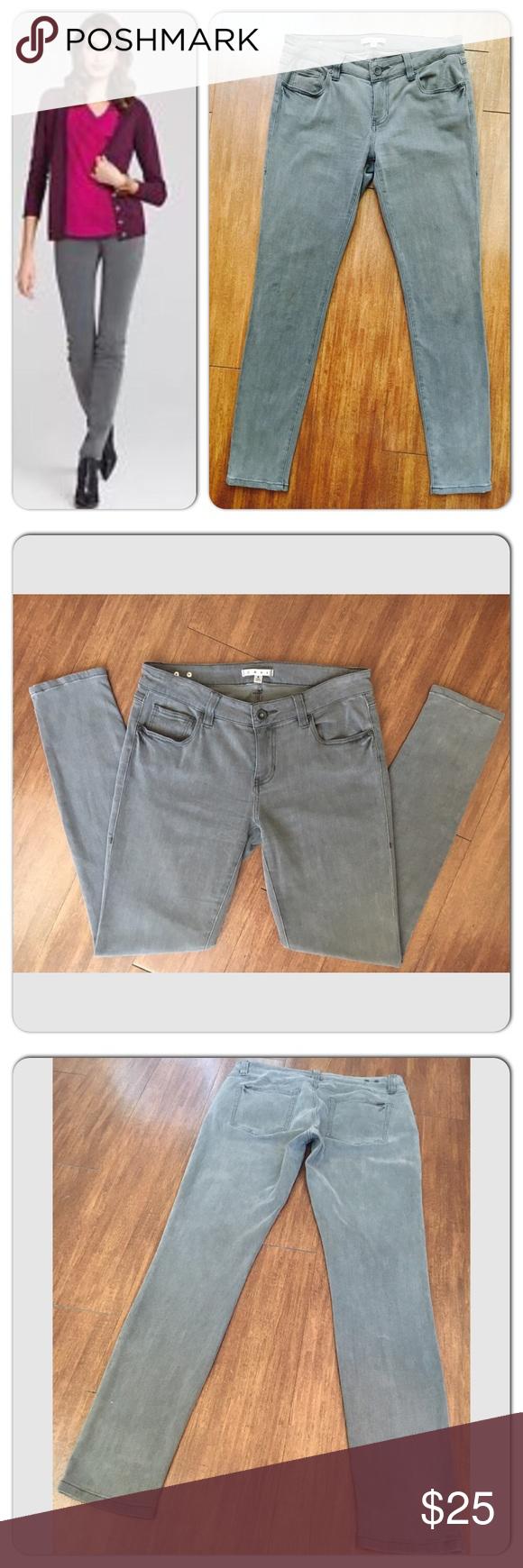 CAbi 921 - Storm Gray Super Skinny Stretch Jeans 8 30 inch inseam. Size 8 CAbi Jeans Skinny