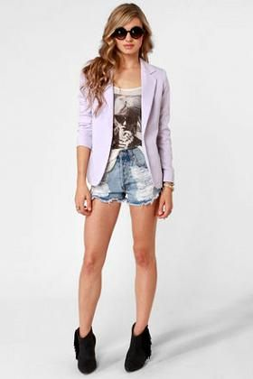 #Lavender #Blazer available at #Lulus for $66.00