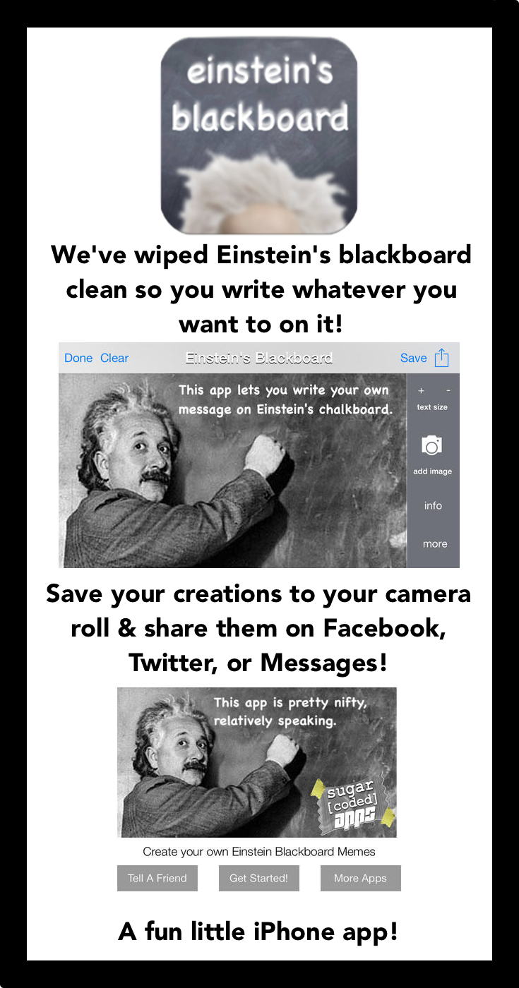We've wiped Einstein's Blackboard clean so you can write