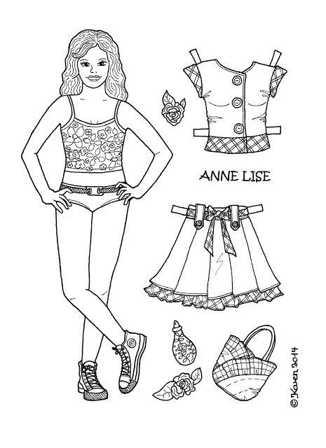 Anne Lise Paper Doll to Print and Colour. Anne Lise påklædningsdukke til at printe og farvelægge. - Karen Bisgaard - Picasa Webalbum