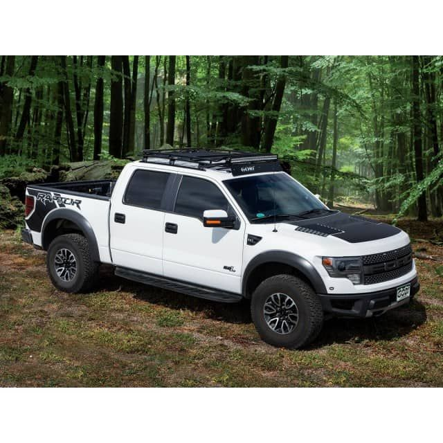 Ford F150 Raptor Stealth Roof Rack 2009 Current Ford F150 F150 Raptor Supercrew Only Includes Rigid E Series 40 Led Li Ford F150 Raptor Ford Raptor F150