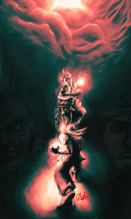 Ryu Vs Akuma Gallery Street Fighter 25th Anniversary
